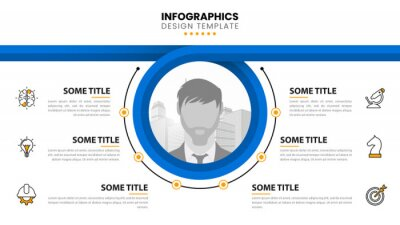 Plakat Infographic design template. Creative concept with 6 steps
