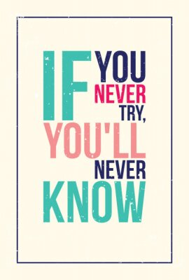 Plakat inspiracja motywacja kolorowy plakat. Stylu grunge