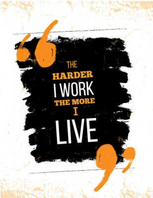 Plakat Inspirująca cytat z motywacji na temat ciężkiej pracy. Wektor typografii plakat i t-shirt, wystrój biura. Trudnej sytuacji tło