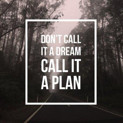 Plakat Inspirujący cytat motywacyjny