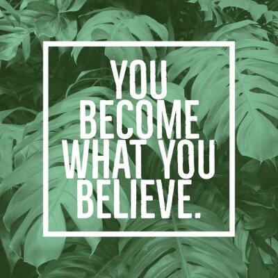 Plakat Inspirujący cytat motywacyjny: