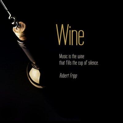 Plakat Inspirujący cytat o winie.