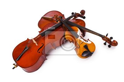 Plakat Instrumenty Muzyczne Samodzielnie Na Białym Tle Na Wymiar