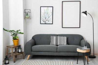 Plakat Interior of stylish living room with comfortable sofa