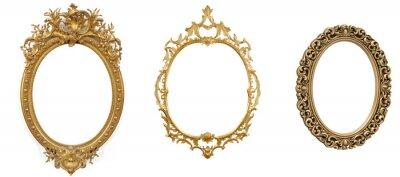 Plakat isolated golden antique luxury frame