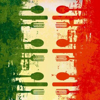 Plakat Italian Menu Template Vector