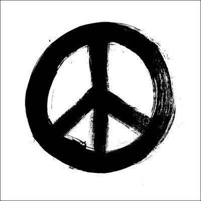 Plakat Izolowane ręcznie rysowane symbol pędzla pokojowego stylu kompozycji EPS10 f