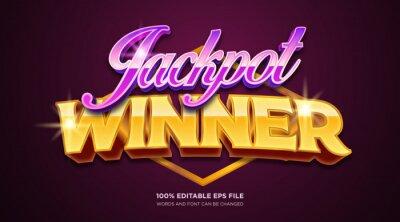 Plakat Jackpot winner text style effect