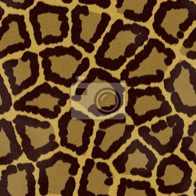 Plakat Jaguar lub leopard bez szwu tekstury futra