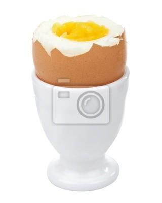Plakat jajka gotowane jajka w Pucharze wyizolowanych