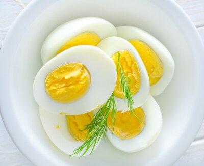 Plakat jajka na twardo