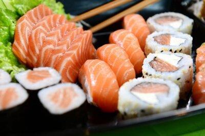 Plakat Japoński żywności - Sushi