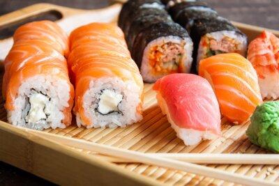 Plakat Japońskie sushi set