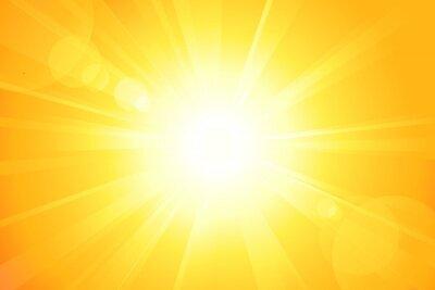 Plakat Jasne słońce wektor z flesza