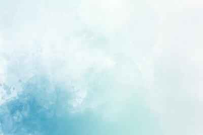 Plakat Jasnoniebieskie tło akwarela