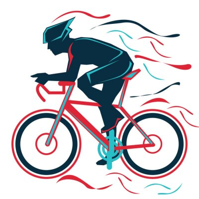 Plakat jazda na rowerze, rover, sport