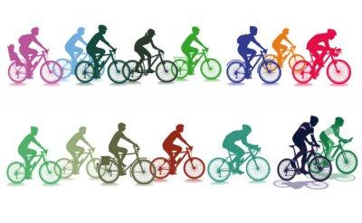 Plakat Jazda na rowerze w grupie