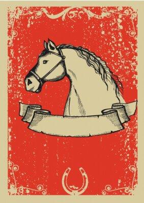 Plakat Jazda poster.Vector obraz graficzny z grunge tle