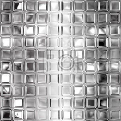 Plakat Jednolite czarne i białe tekstury płytki szklane