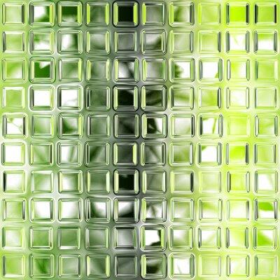 Plakat Jednolite zielone tekstury płytek szkła tle, kuchnia lub bathro
