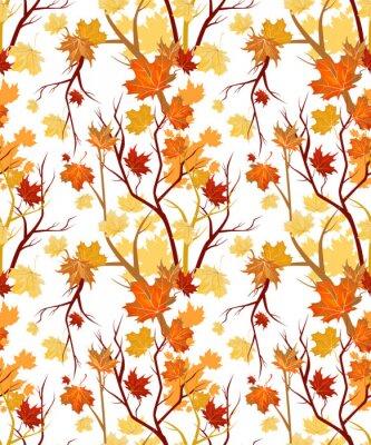 Plakat jesień bez szwu