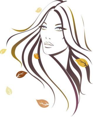 Plakat Jesień dziewczyna