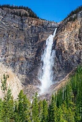Plakat Jesień pełna płynący wodospad Takakkaw.