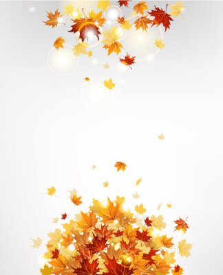 Plakat Jesień pozostawia tła