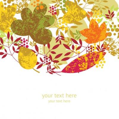 Plakat jesień w tle