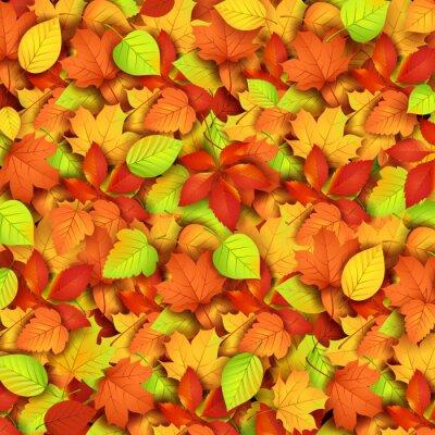 Plakat Jesienne liście. Ilustracja wektorowa