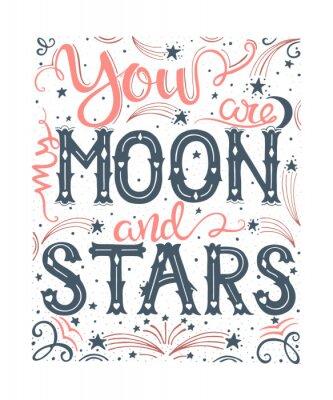 Jesteś Moim Księżycem I Gwiazdami Plakaty Redro