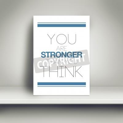 Jesteś Silniejszy Niż Myślisz Kluczowe Plakat Na Białym Półka Plakaty Redro