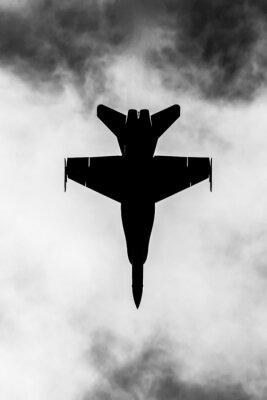 Plakat Jet myśliwiec sylweta