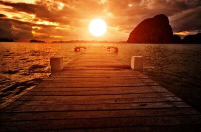 Plakat Jetty do zachodu słońca