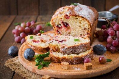 Juicy i oferty cupcake z śliwek i winogron