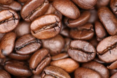 Plakat Kaffeebohnen Kaffee Bohnena tła