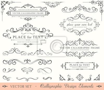 Plakat Kaligrafii Design Elements