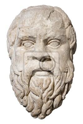 Plakat Kamienna głowa z greckiego filozofa Sokratesa