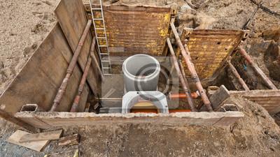 plakat kanalizacja betonfertigteile regenwasser und schmutzwasser na wymiar poziom rurka. Black Bedroom Furniture Sets. Home Design Ideas