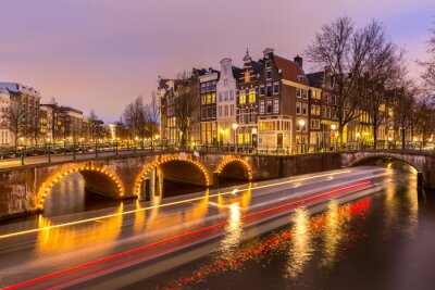 Plakat Kanały Amsterdam Holandia