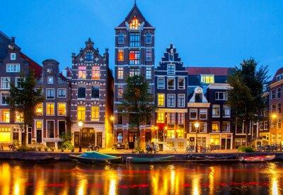 Plakat Kanały Amsterdamu.