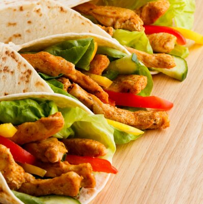 Plakat Kebab - grillowane mięso i warzywa
