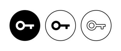 Plakat Key icon set. Key vector icon. Key symbol