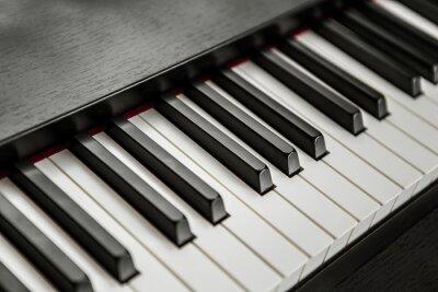 Plakat klawiatura fortepianu