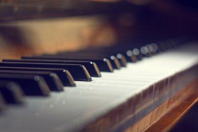 Plakat Klawiatury fortepianu tle z selektywnej focus