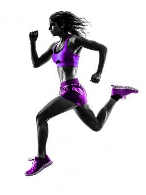 Plakat Kobieta jogging biegacz sylwetka jogger