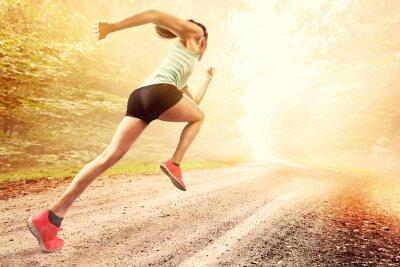 Plakat Kobieta Runner
