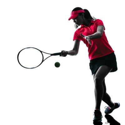 Plakat Kobieta tenisista smutek sylwetka