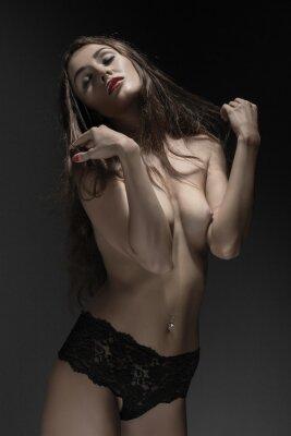 Plakat kobieta topless