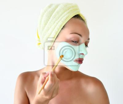 Plakat Kobieta z twarzy maskę